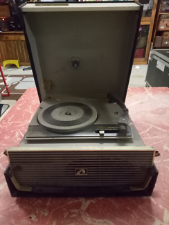 1960s His Master's Voice Portable record player