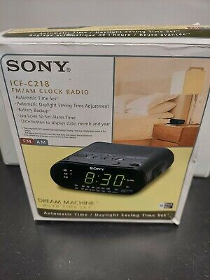 Sony Dream Machine Clock Radio - Black (ICFC218)