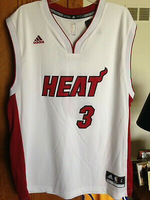 Dwyane Wade Miami Heat adidas NBA Replica Basketball Jersey Large White Red NWT Replica Miami Heat Jersey