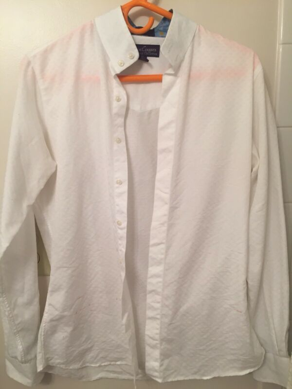 3 Essex Classics Performance Collection Coolmax Wrap Collar Show Shirt - size 36