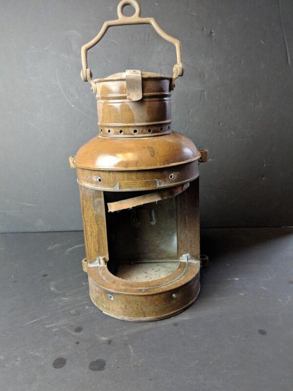 Antique 1850s Chas. Cory & Son Inc. Nautical boat maritime lamp lantern brass
