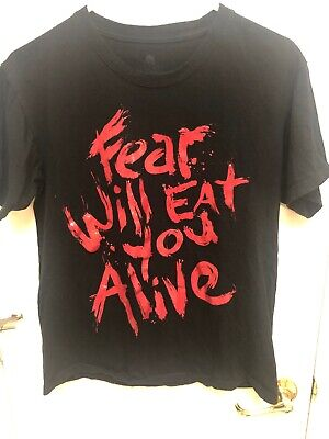 Halloween Horror Nights 24 Fear Will Eat You Alive Black T Shirt Sz. S HHN - Halloween Horror Nights 24 Shirts