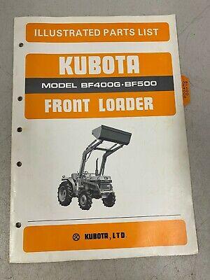 Kubota Illustrated Parts List Front Loader Model Bf400g Bf500 Manual Catalog