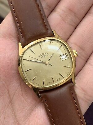 Vintage Rotary Gold Plated Mechanical Swiss Made Men Watch WORKING