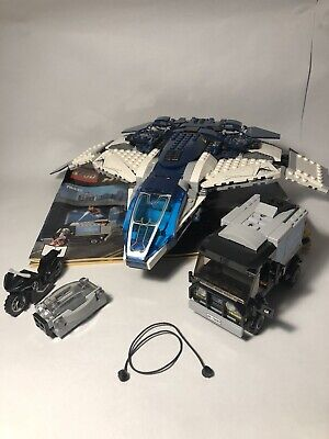 Lego Avengers Quinjet, Van, Motorcycle, and Instructions from Retired Set(76032)