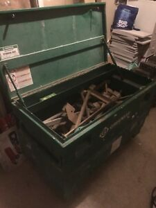 Greenlee tool chest on wheels
