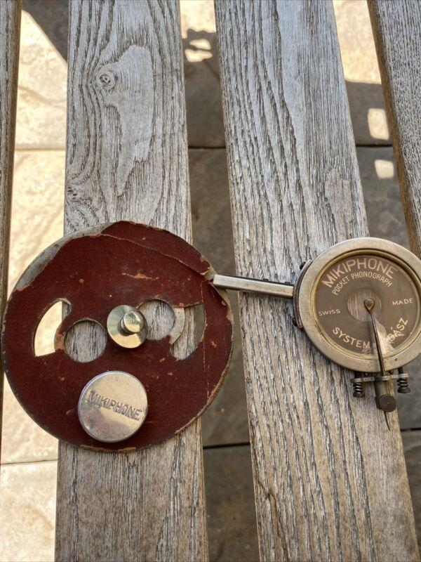 mikiphone Pocket Phonograph Parts Antique 1920's