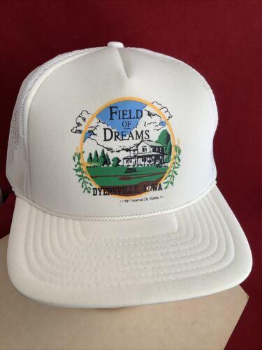 Vtg San Sun 1991 Movie Field Of Dreams Trucker Rope Mesh Snapback Hat Cap FarmF1 - $14.95