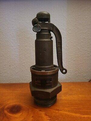 Antique Consolidated Safety Valve Pop Off Hit Miss Steam Tractor Engine Brass