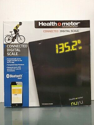 Health O Meter NUYU Connected Digital Scale (Black) With BMI & Weight Tracking
