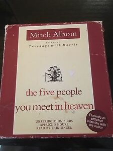 The five people you meet in heaven audio book  Belleville Belleville Area image 1