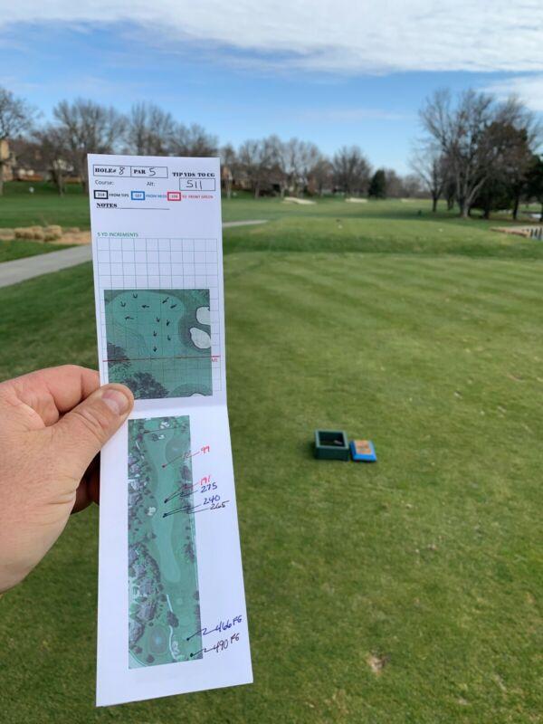 Golf Yardage Book Template Do-it-Yourself