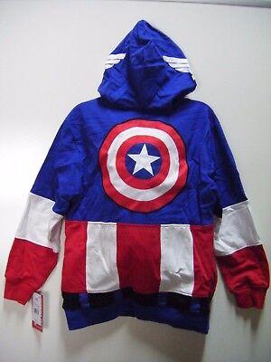 Marvel Captain America Full-Zip Masked Hoodie, Sweatshirt - Captain America Kostüm Hoodie