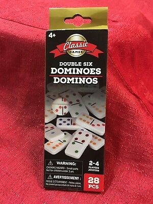Dominoes   Double Six Color Dot   Set Of 28 Dominoes And Instructions