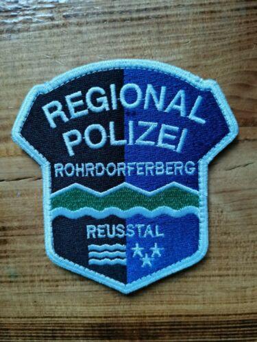 SWISS SWITZERLAND PATCH POLICE ROHRDORFERBERG ( CANTON AARGAU ) - ORIGINAL!