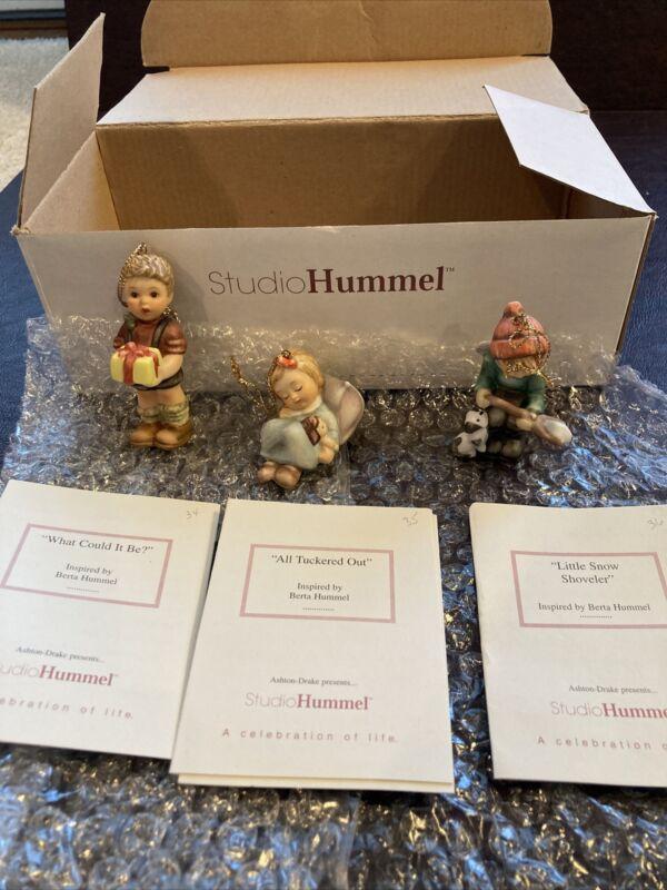 Berta Hummel Studio Hummel Ornaments - Set #12 (96046) w/COAs!!