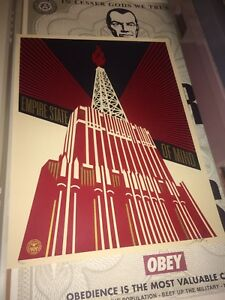 Obey giant silkscreen print. Signed and numbered