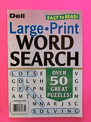 - DELL Large Print WORD SEARCH Easy To Read Over 50 Great Puzzles! Winter 2019 New