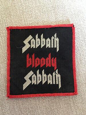 Black Sabbath - Sabbath Bloody Sabbath Patch RARE