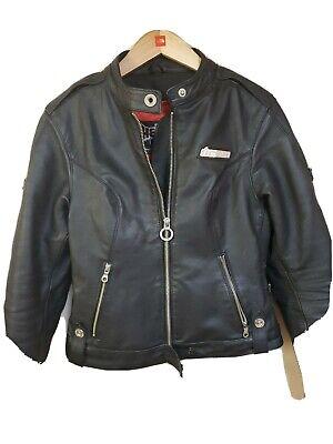 Icon Motorcycle leather Jacket Hella Armored. Medium Women