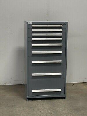 Used Stanley Vidmar 9 Drawer Cabinet Industrial Tool Parts Storage 2415