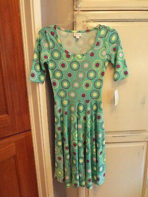 LulaRoe - Dress - Nichole - Mint/Pink/Purple - Circle Pattern - Size XS - NWT