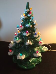 "17"" Ceramic Christmas Tree With Base 1988"