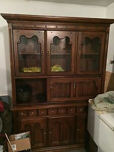 China cabinet + matching table and chairs