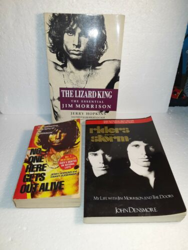 3 PAPERBACK BOOKS ON JIM MORRISON AND THE DOORS