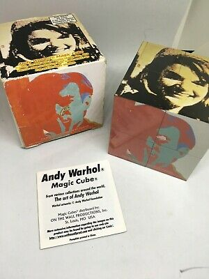 Andy Warhol limited Edition Magic Cube with box 2001 pop art puzzle
