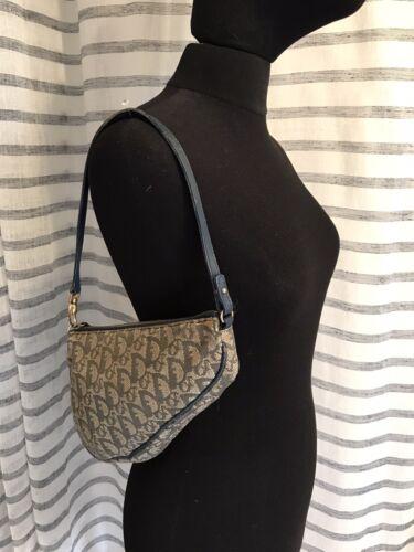 Christian dior sac bag toile monogramme purse ancien vintage