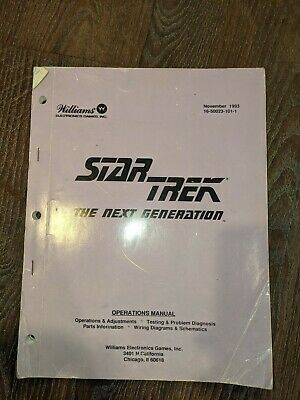 Williams - Pinball - Original Star Trek Operation Manual