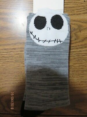 Used, Disney Jack Skellington Crew Socks Shoes 4-10 Nightmare Before Christmas Gray for sale  Norco