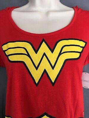 Wonder Woman Halloween Shirt (Wonder Woman Juniors Shirt With Hood Large Dc Comics Halloween NEW)