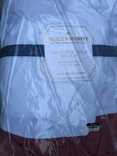 Pottery Barn Teen Emily & Meritt Cotton Tulle Bed Skirt Full NEW