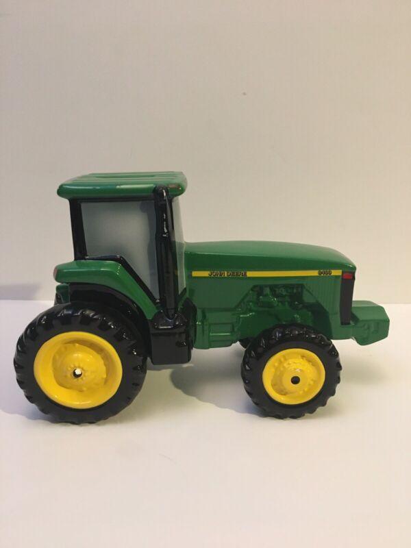 Vintage1998 Enesco John Deere 8400 Collectible Ceramic Tractor Bank Registration
