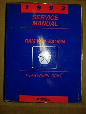 1993 Dodge Ram Van Wagon Shop Service Manual