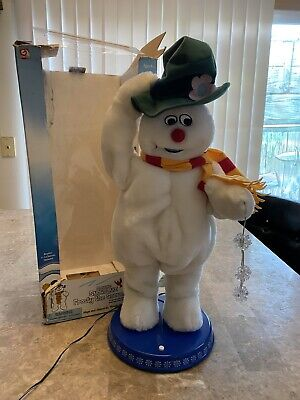 Gemmy Spinning Snowflake Frosty the Snowman Vintage Light Up Dancing & Singing