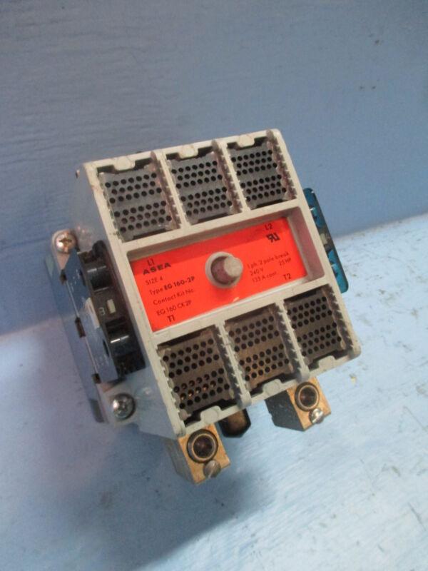 Asea / ABB EG-160-2P Size 4 Contactor 135 Amp 240V 25HP 120V Coil Sz4 EG160-1