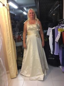 Hills in Hollywood Champagne Wedding Dress
