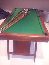 POOL TABLE + CUES + BALLS + CUE HOLDER Redland Bay Redland Area Preview