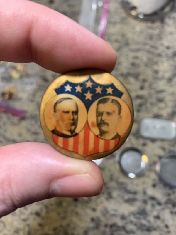 Theodore Roosevelt & William McKinnley Campaign Button