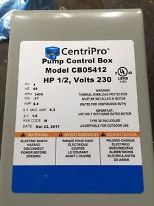 Submersible pump 1/2 hp brand new with control box