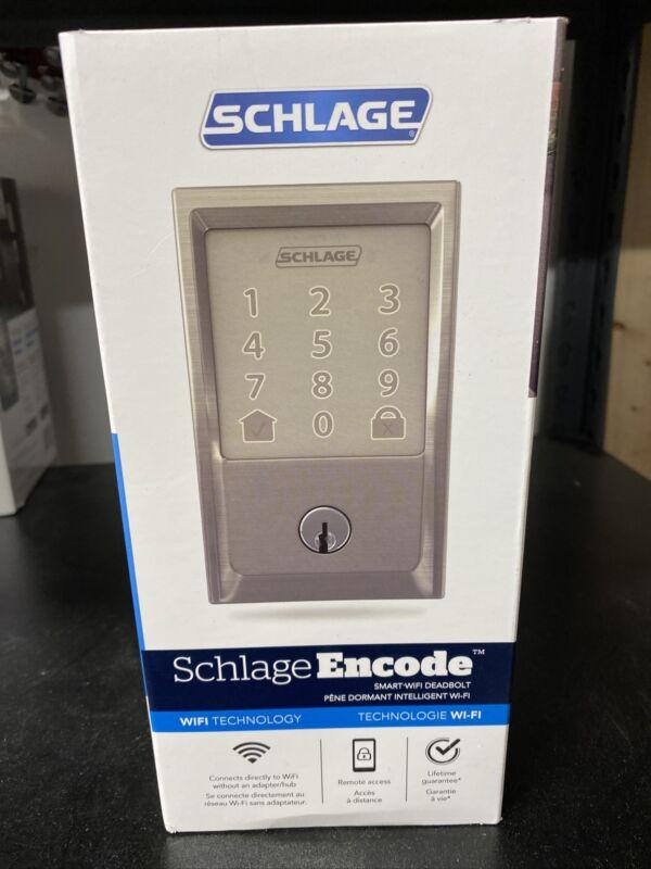 Schlage Encode Century Smart Deadbolt, Satin Nickel