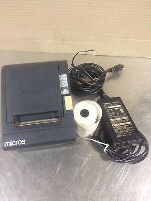 Epson Micros M129b Tm-t88ii Pos Thermal Receipt Printerpowersupply. 2e