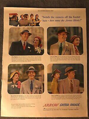 Arrow Shirts~Arrow Easter Parade ~1952 Vintage Print AD B10