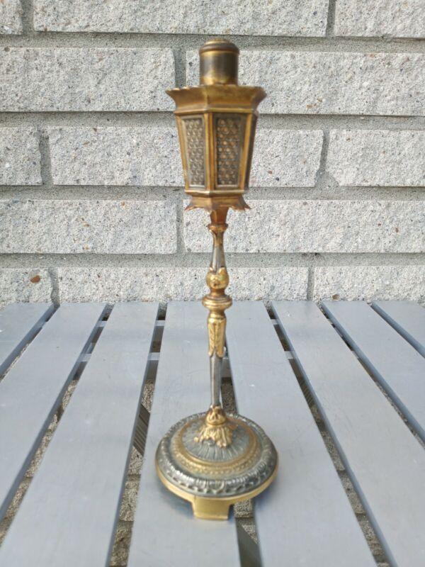 """Vtg Antique Figural Table Top """"Lamp Post"""" Ligher cigarette cigar Dunhill Fine"""