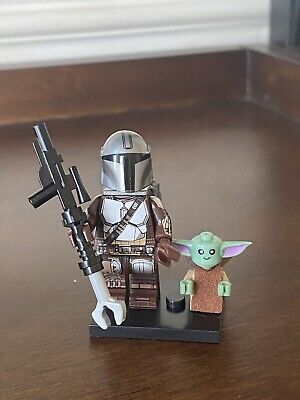 Star Wars Baby Yoda & Mandalorian Custom MiniFigure Uk Seller Fits Lego