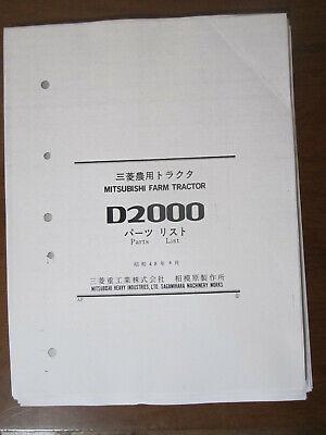 Mitsubishi D2000 Tractor Parts Manual