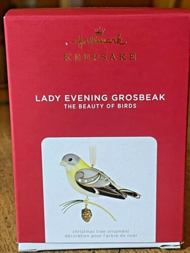 2021 Hallmark The Beauty of Birds Lady Evening Grosbeak Limited Edition Ornament